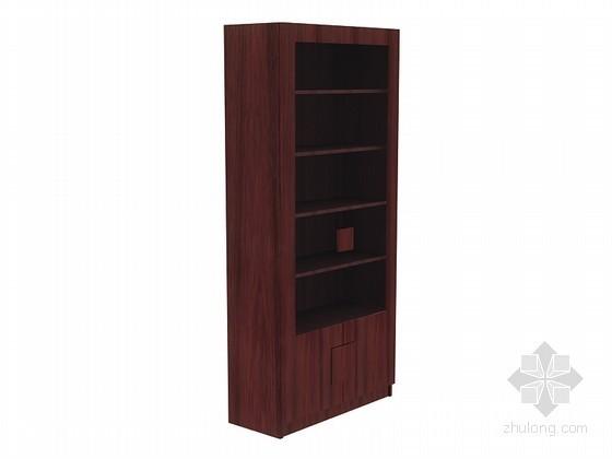 现代中式书柜3D模型下载