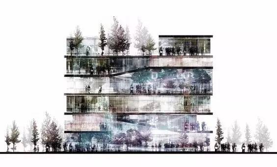 那些霸气的建筑剖面图_28
