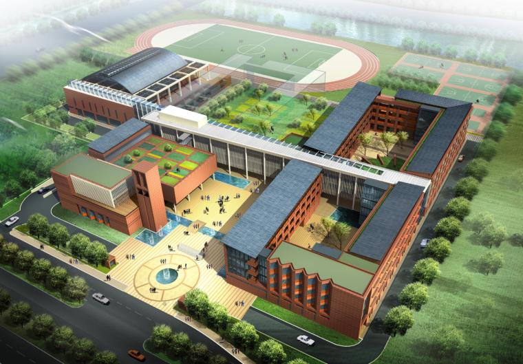 [江苏]九城某园区中学建筑方案设计文本