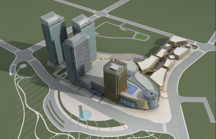 [上海]超高层核心筒布局商业综合体建筑设计方案文本