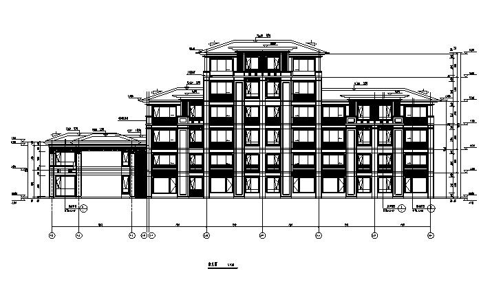 [北京]多层剪力墙联排式住宅建筑施工图(含两版全专业施工图)