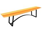 公共长条凳3D模型下载