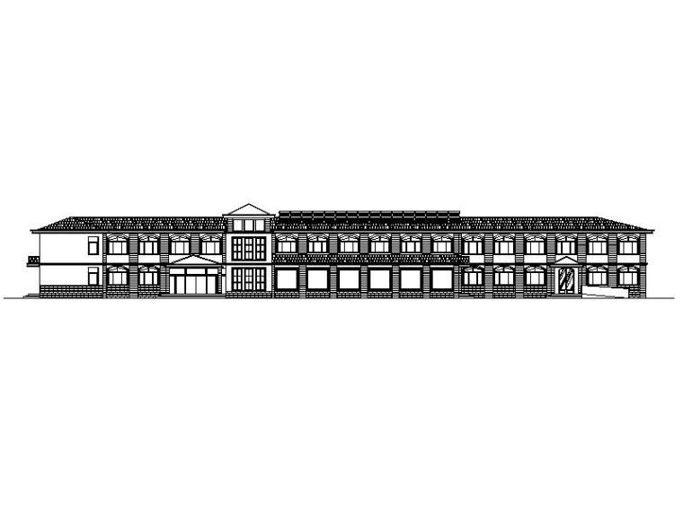 [宁夏]欧式贴砖立面职工宿舍建筑施工图