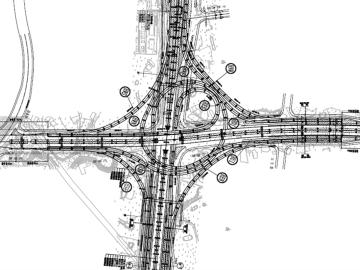 市政道路改造工程全套施工图设计1088张(道排,桥梁,照明,交通)