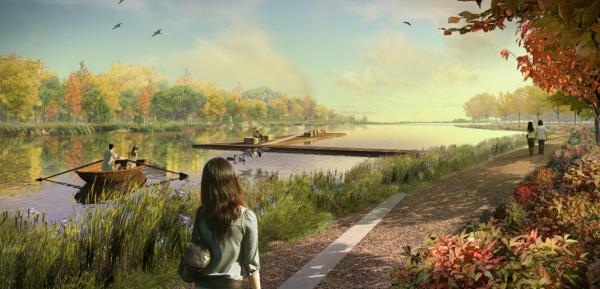 [上海]新城景观轴线公园景观设计方案(赠项目设计视频+实景图)
