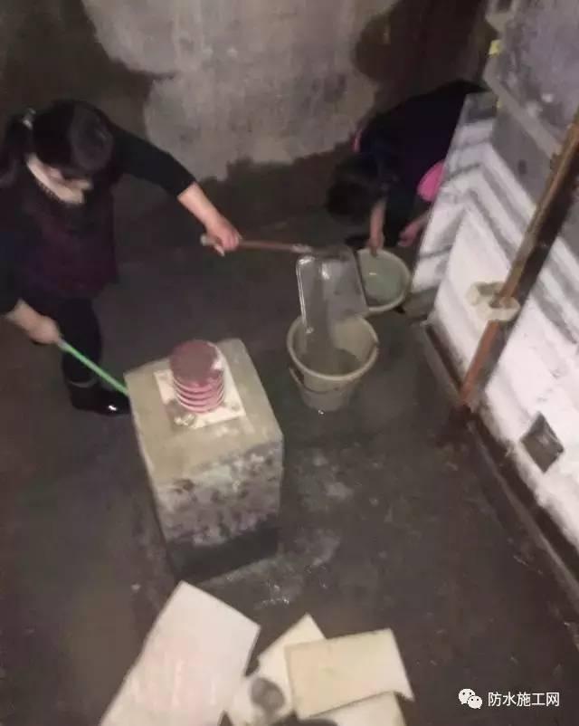 电梯井防水堵漏施工案例
