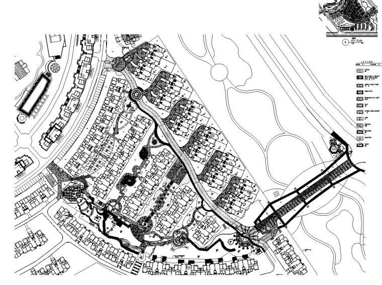 [四川]成都知名地产名城某居住区景观设计全套施工图(包含+植物配置)-平面图