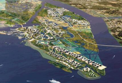 抚州市城市新区中心区控制性详细规划设计方案-总鸟瞰图2