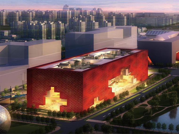 美术馆设计模型资料下载-中国工艺美术馆建筑设计方案文本