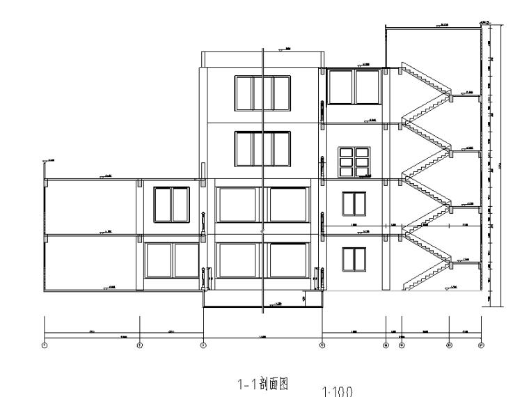 某4层图书馆全套设计(10000多平,含计算书、建筑/结构/施工图)_4