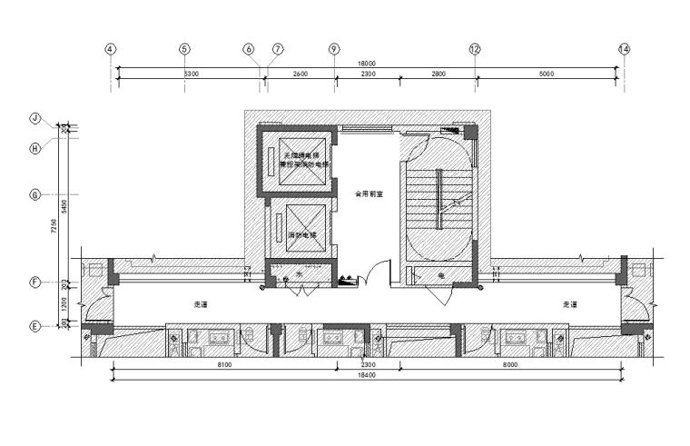 [福州]公区设计精装修施工图(效果图+物料表)