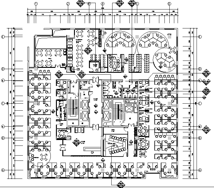 [四川]简洁时尚戴尔办公空间设计施工图(附效果图)