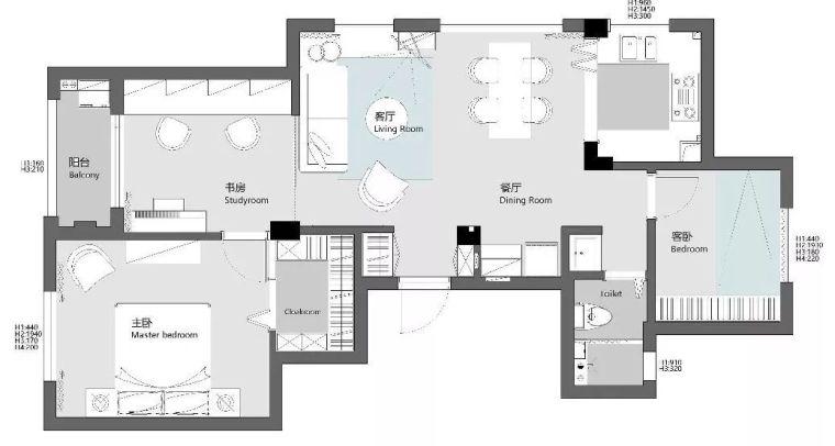 89㎡文艺北欧风,客厅设计好给力,多彩配色打造温馨小家!