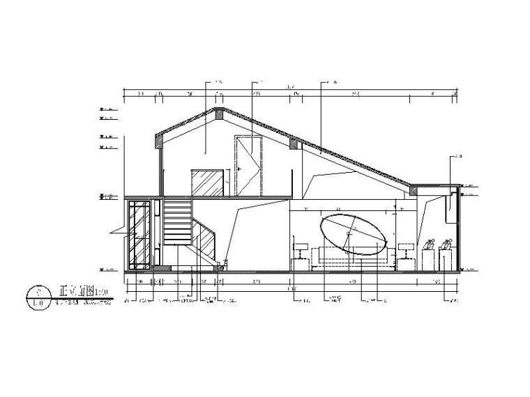 整套时尚简约风格复式楼CAD施工图(含效果图)立面图