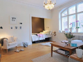 小户型全利用白色开放式一居室实景图