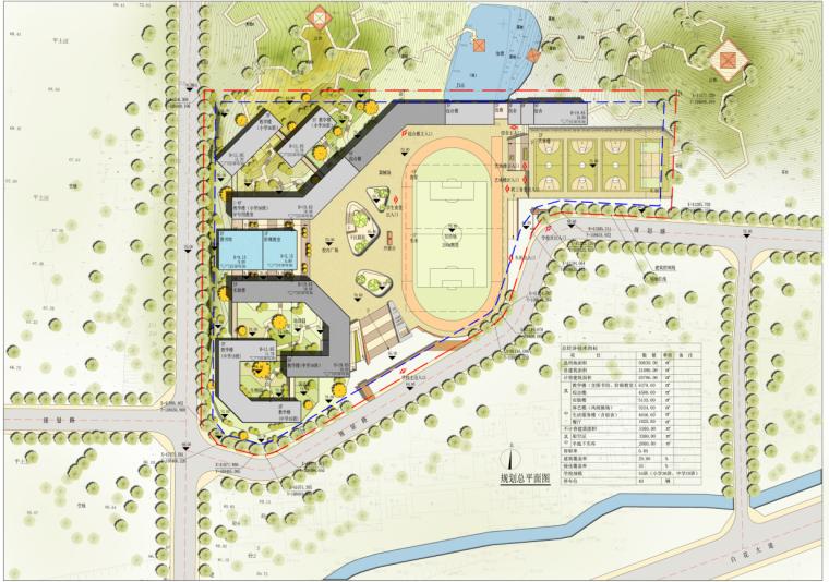 [广东]某新区学校建筑设计文本-总平面图