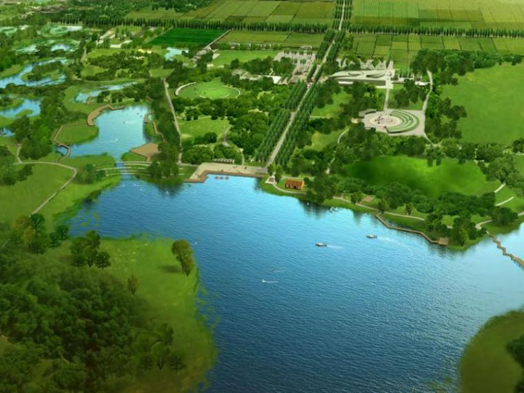 [陜西] 西安灃渭河谷濕地公園項目概念性規劃方案(PDF+158頁)
