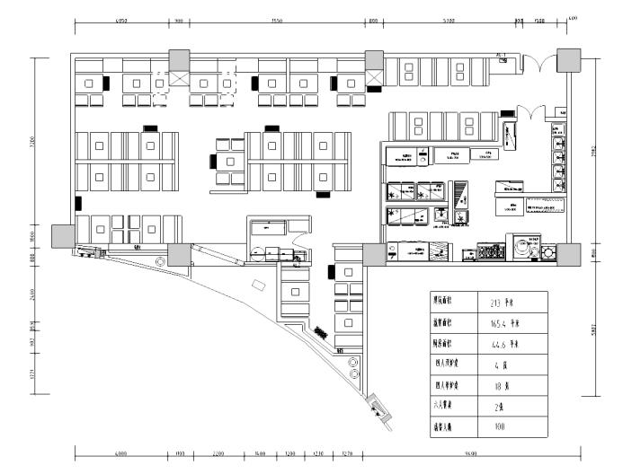 [山东]现代简约风格中餐厅装修全套施工图(含效果图)