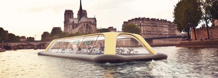 Carlo Ratti工作室设计巴黎塞纳河上的健身房小船