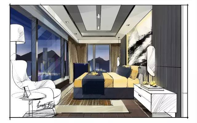 室内手绘|室内设计手绘马克笔上色快题分析图解_1