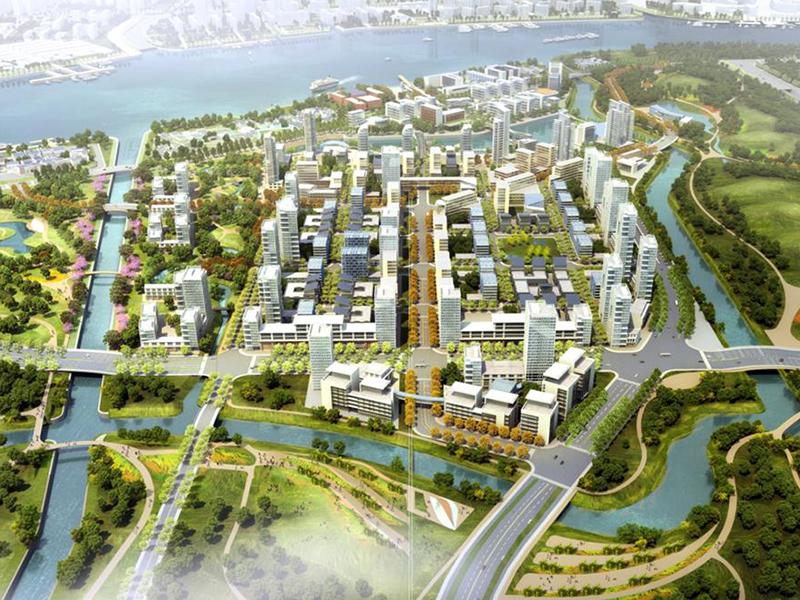aecom三林滨江南片区域城市设计最终版规划设计方案 总鸟瞰图