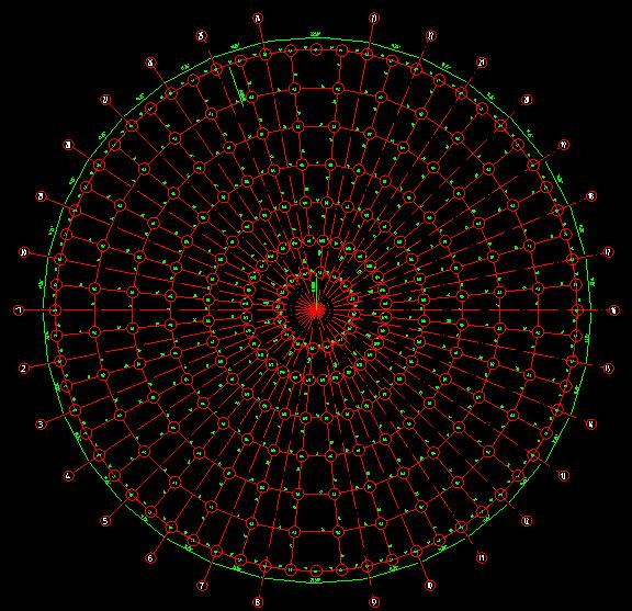 全套网架檩条平面施工图_2