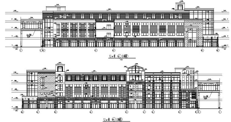 盐城中茵海华广场12号高层商业综合楼建筑设计(设计方案CAD)