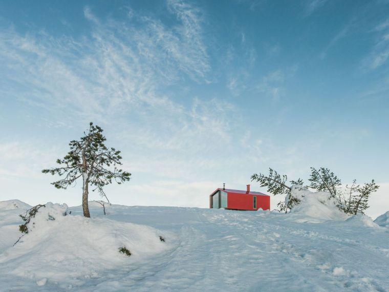 俄罗斯雪地上的DublDom预制观景屋-7