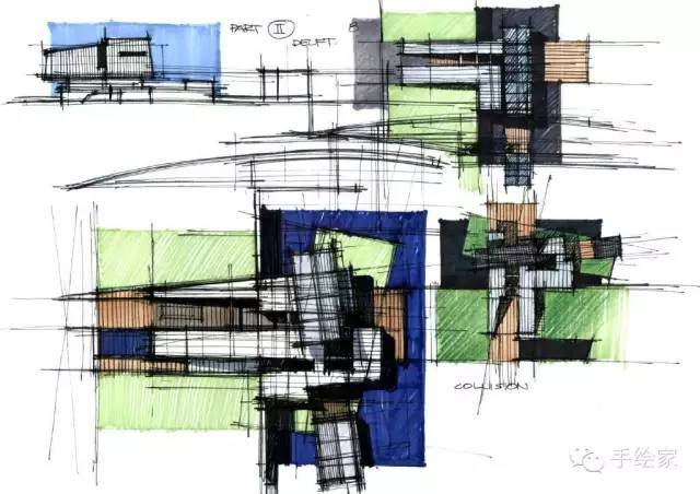 百年经典建筑设计手绘图_30