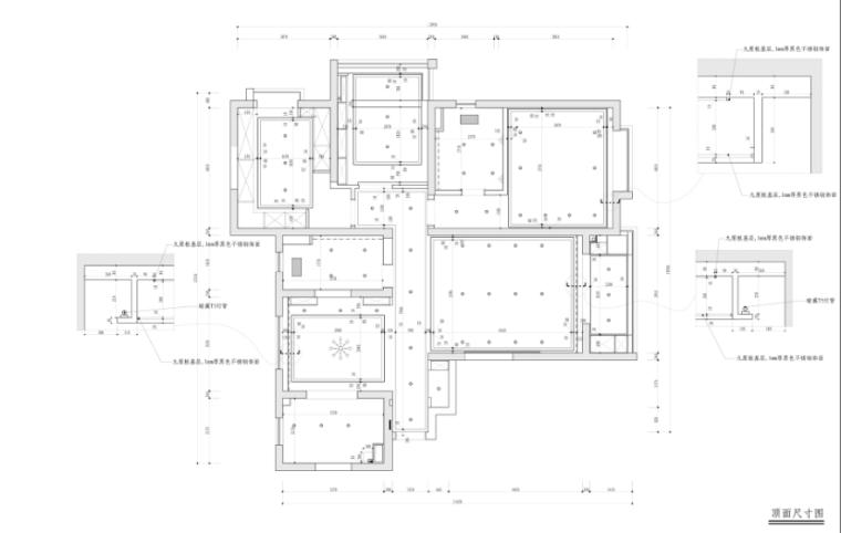 [上海]现代新中式风格样板房设计施工图(附效果图)