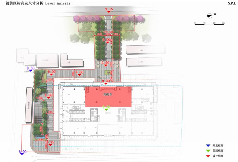 海联大厦(销售期)景观深化设计方案文本-海联大厦( 销售期)景观深化设计方案文本A-3场地标高