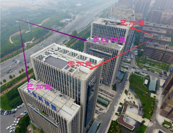 郑州大学科技园多处楼房违法加盖1-2层 存安全隐患