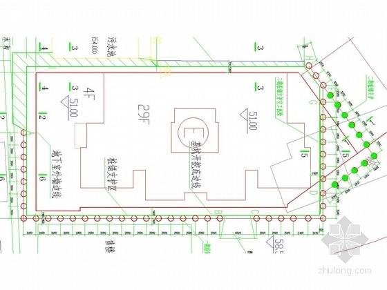 [湖北]桩锚基坑支护施工图