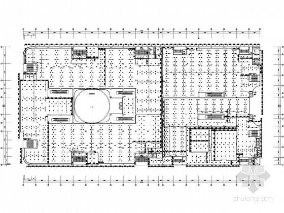 [山西]6万平国际购物中心商场层给排水图纸