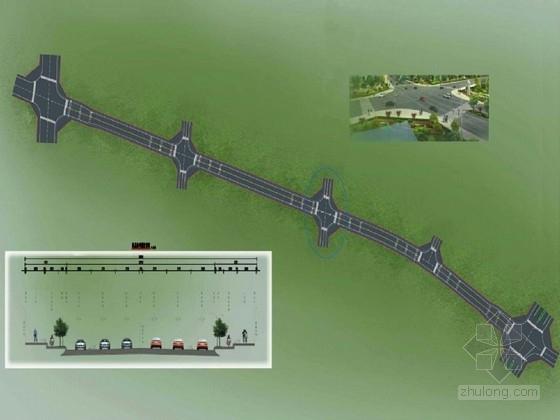 [四川]36米宽城市主干路改造设计图纸238页(含交通给排水绿化)