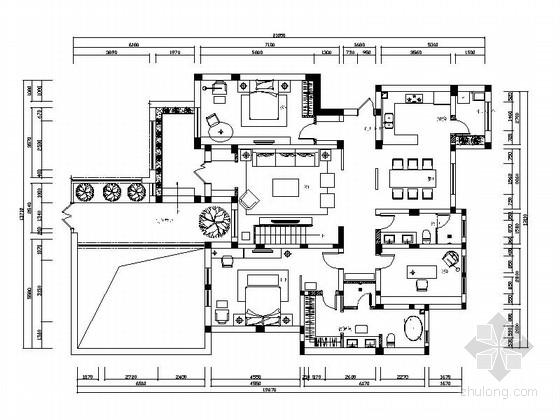 [河北]豪华新中式家装施工图(含效果图)