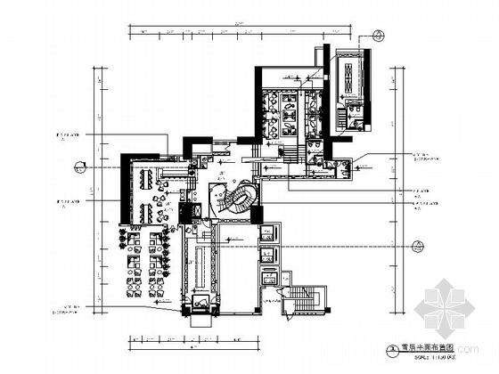 [上海]新中式混搭风红酒会所室内施工图(含效果图)