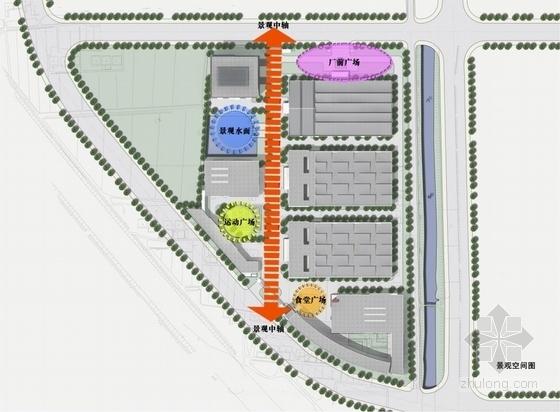 [江苏]方形天窗屋面办公楼规划建筑设计方案文本(含CAD)-方形天窗屋面办公楼规划建筑分析图