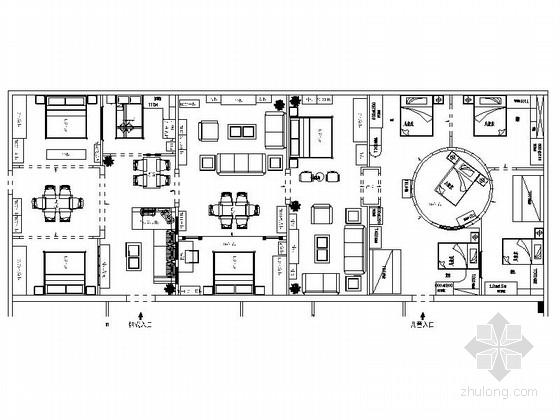 [邢台]大型家具企业现代风格展厅装修施工图