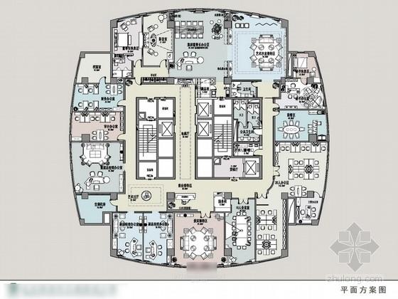 [河北]某高端时尚私人会所室内设计方案图