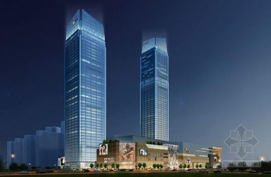 [东西双塔]56和44层框架核心筒结构商业办公楼结构图(400张图)