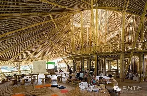 景观设计中的竹建筑案例浅析——巴厘岛上的竹子学校_9