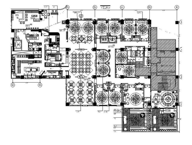 [上海]古朴中式风餐厅室内设计施工图(含效果图)