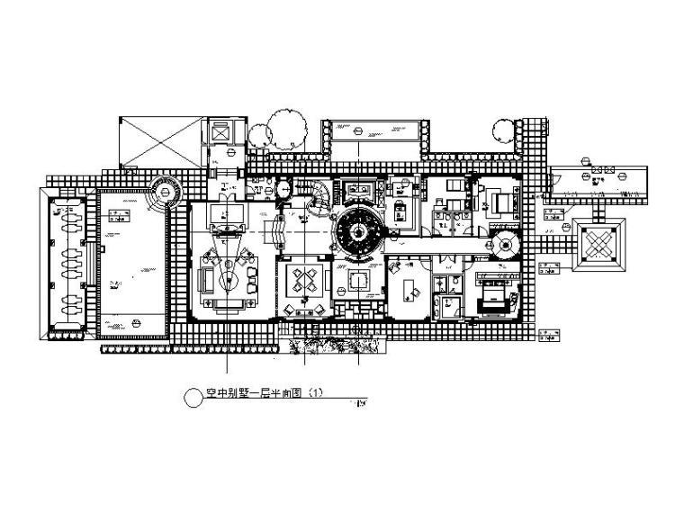 [深圳]某高端空中别墅设计CAD施工图(含效果图)