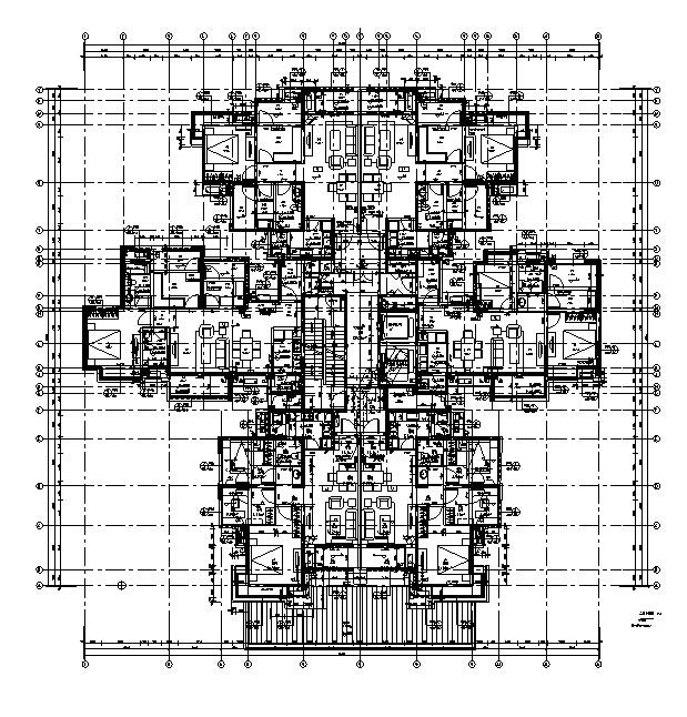[四川]绿地29栋超高层住宅及地下室建筑施工图(正式全专业)_3