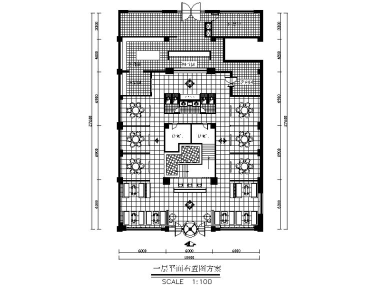 全套中式风格火锅店设计CAD施工图(含效果图)