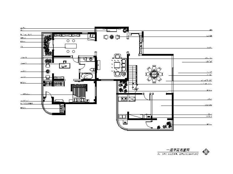 现代简约唯美样板间设计cad施工图(含效果图)图片