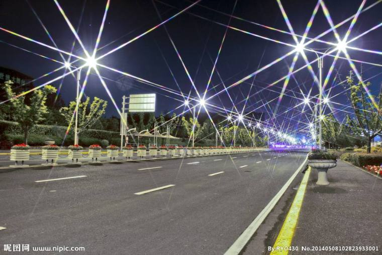 某区滨江路夜景照明设计