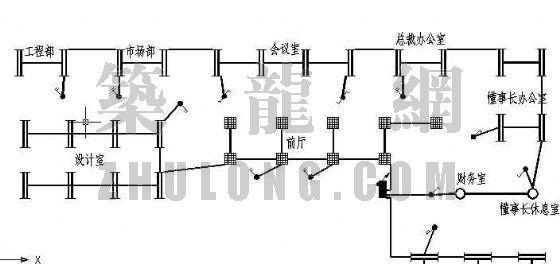 办公区装修电气平面图