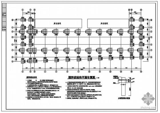 某底层钢框架二层门刚结构设计图